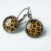 Earrings - Animal - Glass dome with antiqued Brass