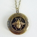 Funky Antiqued Brass Locket Pendant - Beautifully detailed Bumble Bee, ON SALE