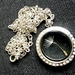 A Single wish with Bling - A Window locket with a Dandelion wish and Crystals - Double sided, Plain or Crystals