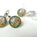 Earrings - Gorgeous Vintage Floral #2 - Choose Antiqued Brass or Silver Settings
