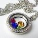 Silver Window Locket - Crystals galore, Swarovski Stunners