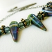 Spectacular Spikes - Gorgeous Czech glass beads with Antiqued Brass