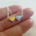 Two tiny hearts - Silver & Gold Cutie.