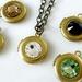 Mini Locket - Austrian Swarovski Crystal and Vintage Brass - Choose your colour - Custom made to order