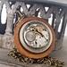 Industrial Chic - Vintage Watch Movement with Wood & Swarovski, Steampunk Senstion - ON SALE
