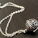 Wish Locket - Vintage Vibe - Antiqued Silver Perfume Pomander