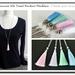 Genuine Silk Tassel Pendant Necklace - Choose your colour - Pastel