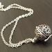 Wish Locket, Antiqued Silver Pomander - free felt ball for spritzing