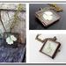 Botanical Window Locket - A White Pansey - Antiqued Brass