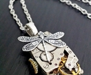 Vintage Oblong with Dragonfly  - Steampunk Inspired Timeless Relic