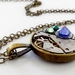 Rainbow #2 - Vintage Watch Movement with Swarovski Crystals - Steampunk Inspired Timeless Relic
