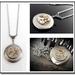 Dark Silver Locket with Swarovski Crystal, Steampunk Inspired Timeless Relic