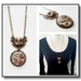 Steampunk Inspired Pendant Necklace, Vintage watch movement with a Funky Owl - Antiqued Brass