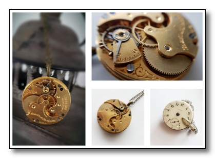 Beautiful Brass Vintage Pocket watch - circa 1907 - Victorian Steampunk Inspired