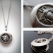 Dark Silver Locket with Detailed Bumble Bee
