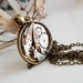 Vintage jewelled watch movement with Brass Art Deco Dragonfly, Steampunk inspired Pendant ~ Timeless Relic
