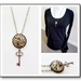 Steampunk Inspired Pendant with a Quirky Key Dangle - ON SALE
