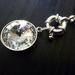 Swarovski Stunner - Clear Rivoli with Bolt ring and Silver Chain - Interchangeable