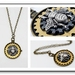 The Bumble Bee and Cogs, Steampunk Inspired Brass Pendant