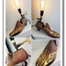 Don't Drag your Feet Table Lamp, Steampunk meets Boy Racer, Wooden Shoe last Chic