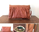Sweet Autumn Tan leather clutch