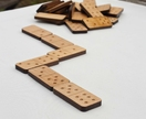 Reclaimed kauri domino set