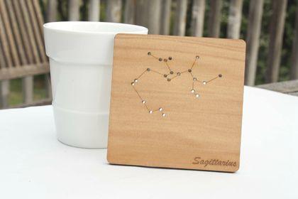 Reclaimed kauri constellation coasters