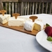 Reclaimed wood cheeseboard and four stakes
