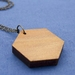Reclaimed kauri hexagon necklace