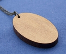 Reclaimed kauri oval necklace