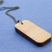 Reclaimed kauri oblong necklace