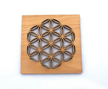 Flower of life coasters - set of four