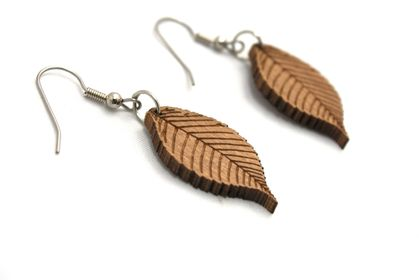 Lasercut leaf earrings