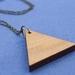 Reclaimed kauri triangle necklace
