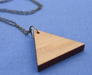 Reclaimed kauri triangle necklace