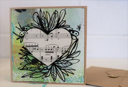 """Music in my Heart"" hand painted gift card"