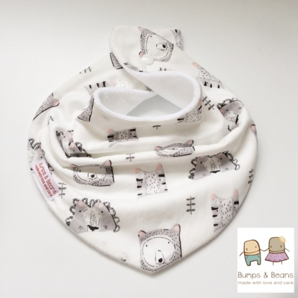 Cute Bears Bandana Bib