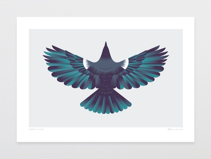 Forest Flight Art Print A3 Size