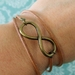 Infinity charm bracelet for men and women