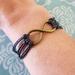 Infinity charm bracelet for men and women