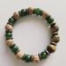 Mens bracelet - Nephrite jade and tigers eye