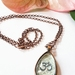 OM teardrop glass Pendant