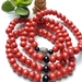 Rustic Red wooden 108 bead mala - bracelet or necklace