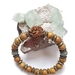 Mens bracelet - Wood Grain jasper with Picasso jasper and Rudraksha seed