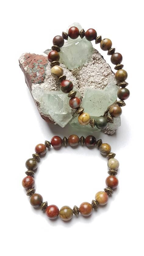 Stability and Balance - 2 Picasso Jasper bracelets