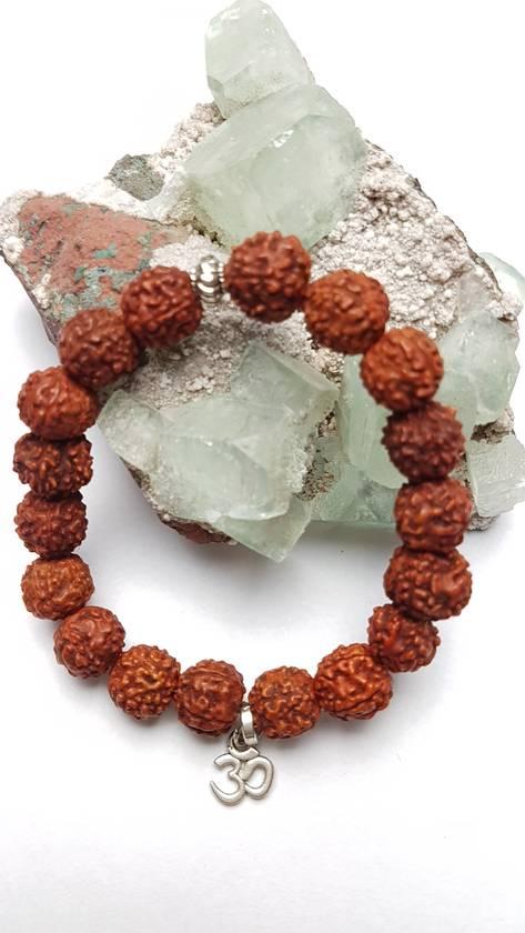 Rudraksha 18 seed mala bracelet