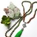 SALE Health and Abundance - 108 bead hand knotted OM mala