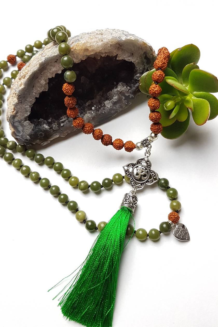 SALE Health and Abundance - 108 bead hand knotted OM mala
