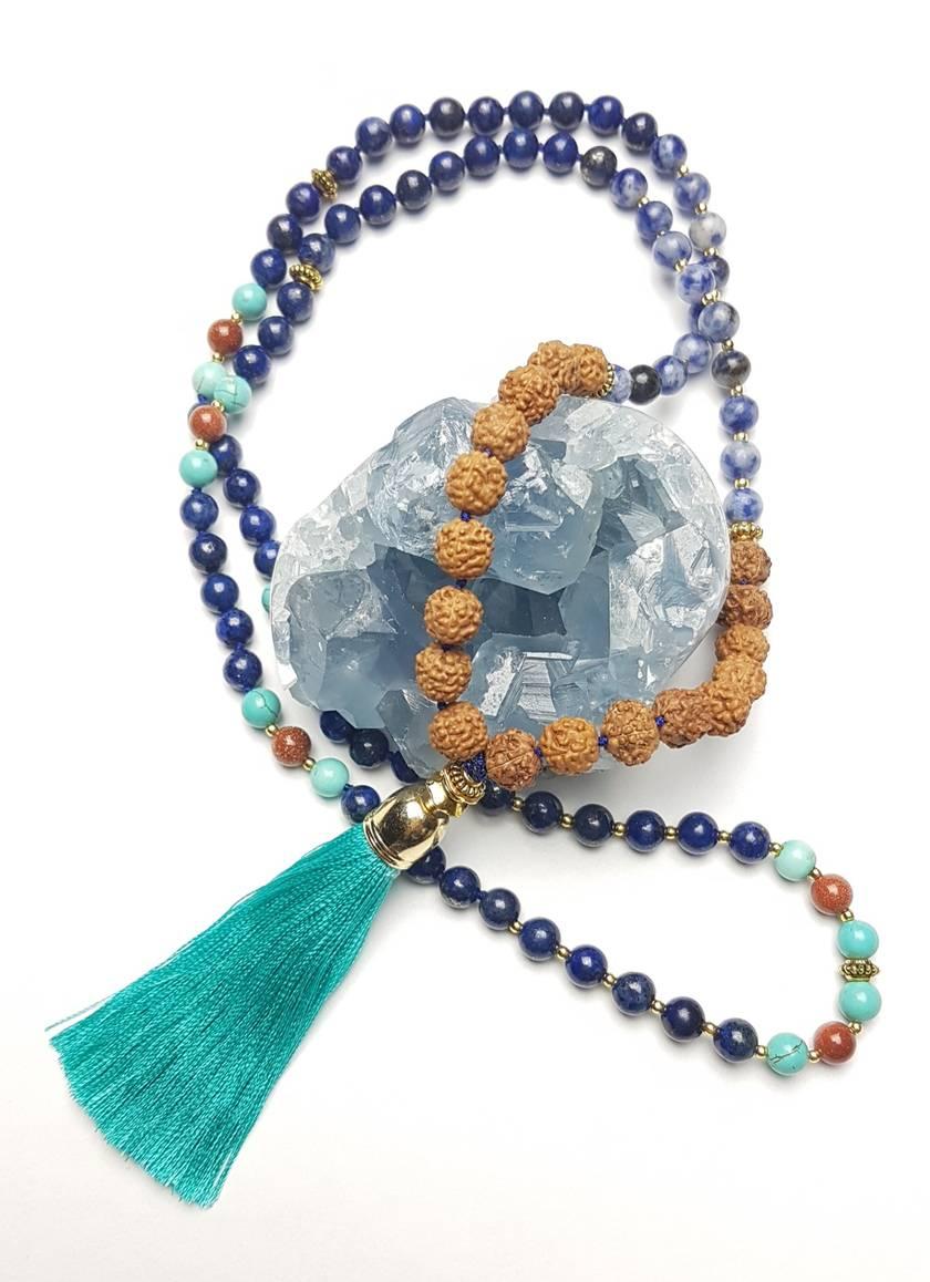 Wisdom and Creativity - 108 bead hand knotted mala