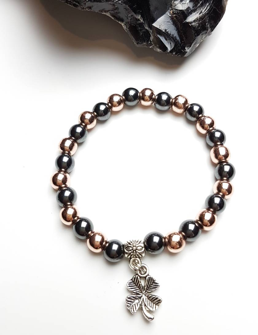 Worry less, Manifest more - Hematite bracelet.